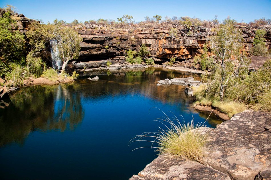 The main pool is a sacred place for the Aboriginals, so swimming is not permitted here.